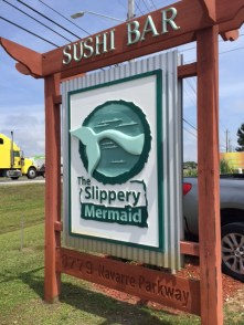 The Slipper Mermaid for great sushi