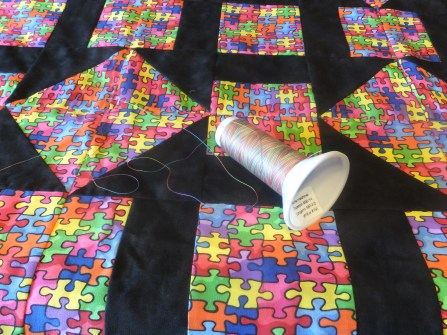 Multi-colored thread wins!