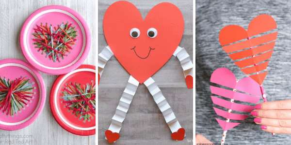 Valentine Hearts Crafts for Kids