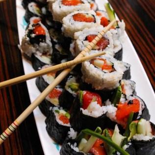 Pêche du jour: Sushis de truite