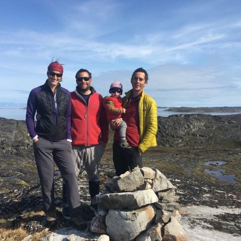 L'équipe en randonnée