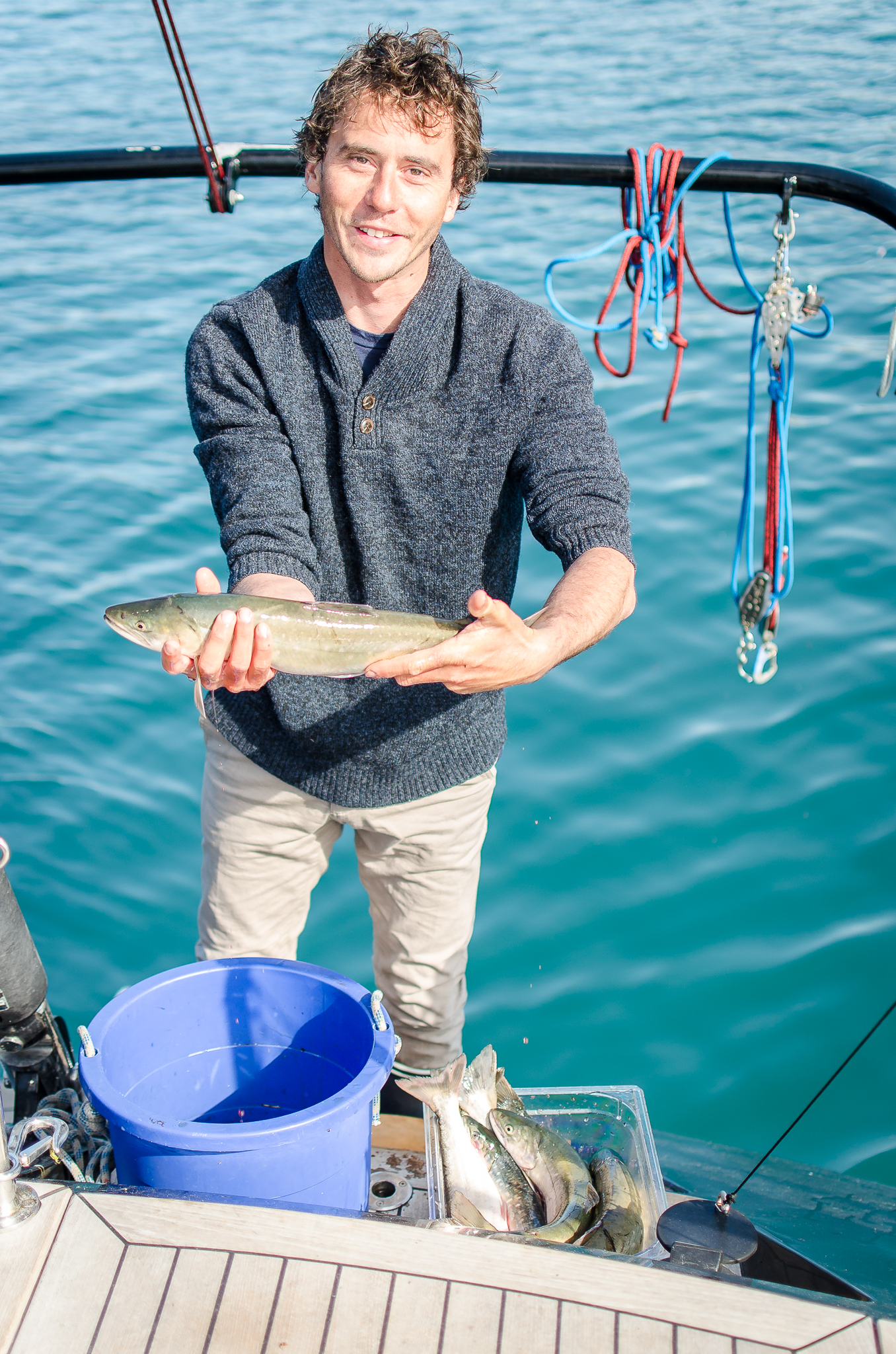 Pêche lors d'une croisière sur LIFESONG