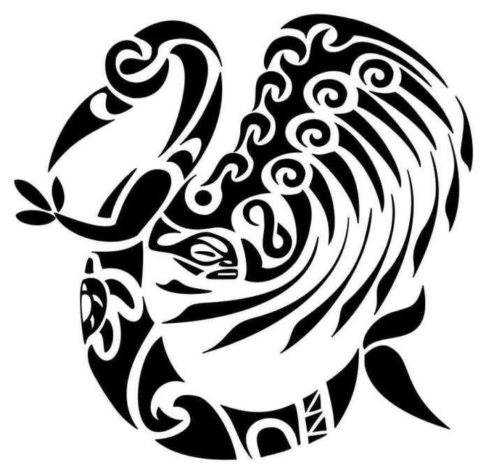 simbolo tatuaggi maori manaia