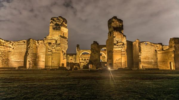 Terme di Caracalla notte roma