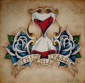 tatuaggi old school clessidra