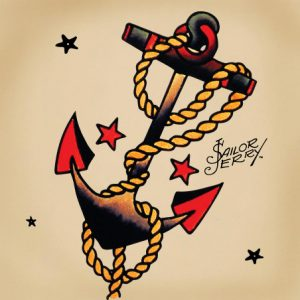 Tatuaggi old school ancora sailor jerry
