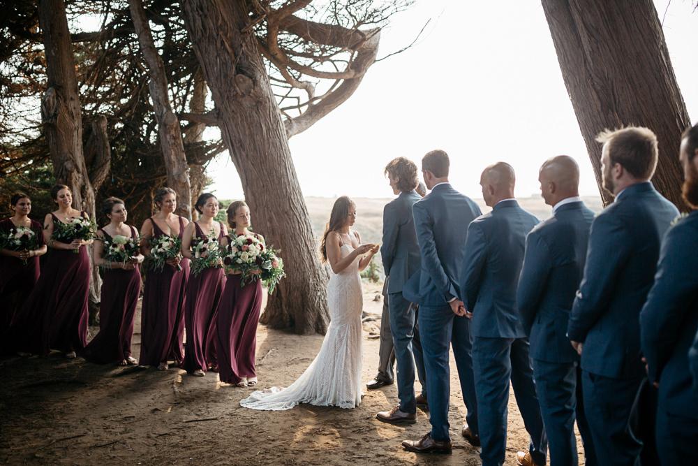 wedding ceremony near the ocean in California
