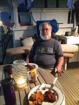 First dinner onboard