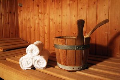 saunagang in winter