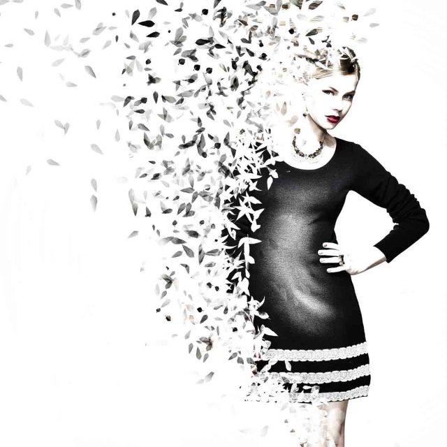 Frau Kleid Modezeichnung