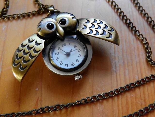 Eule Uhr Uhrenkette