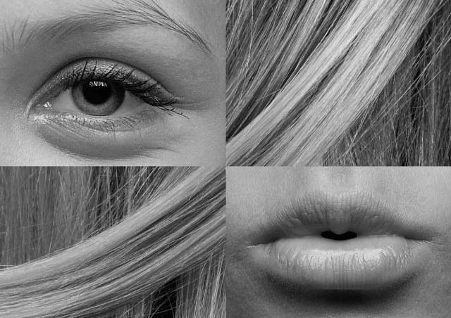 Haare Auge Mund