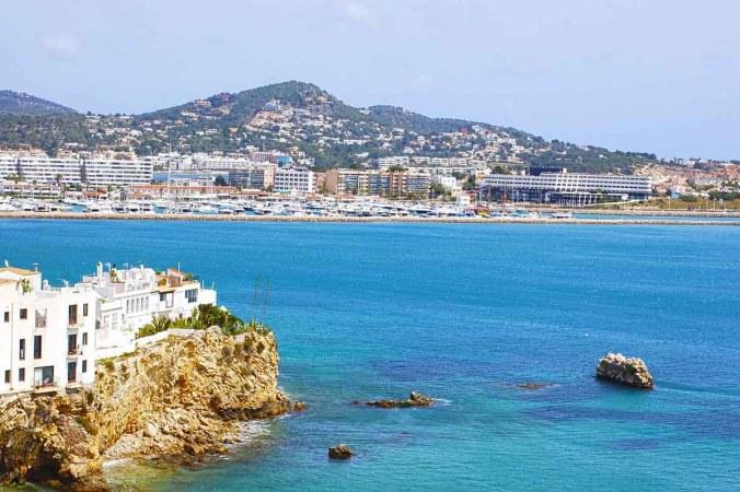 Ibiza Stadt Häuser