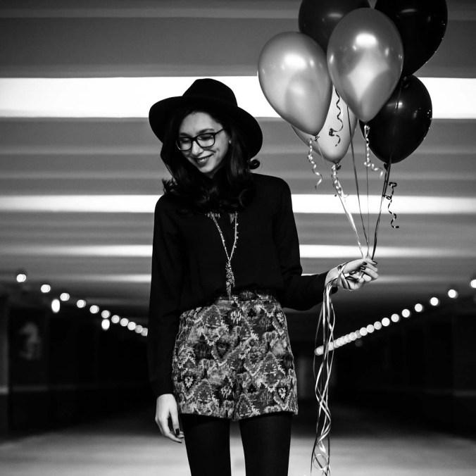 Luftballons Girl Brille