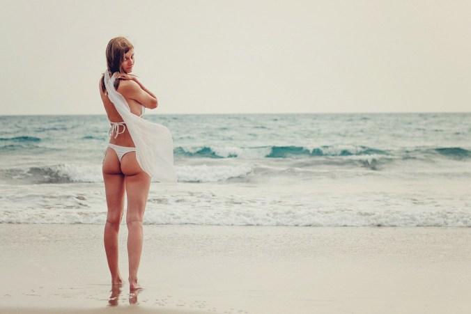 Bikini Weiß String