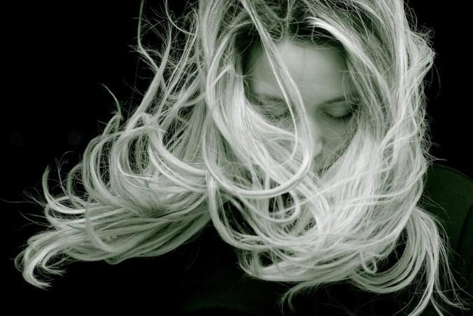 Haare Wind Lang Frau