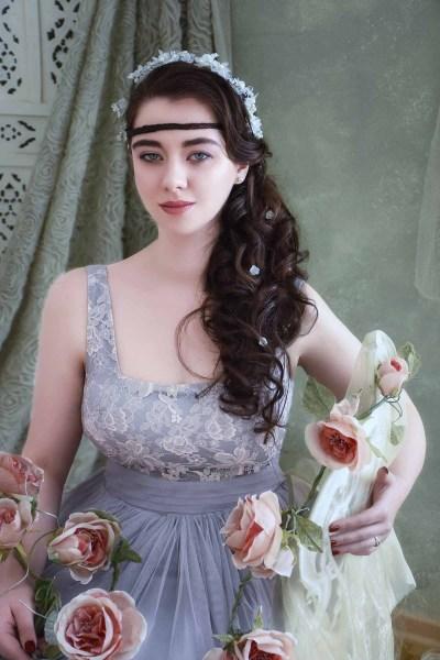 Pastell Kleid Spitze