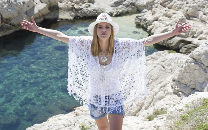 shorts top weiß hippie