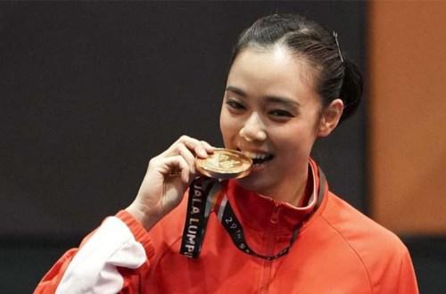 Lindswell Kwok atlet wushu Asian Games 2018