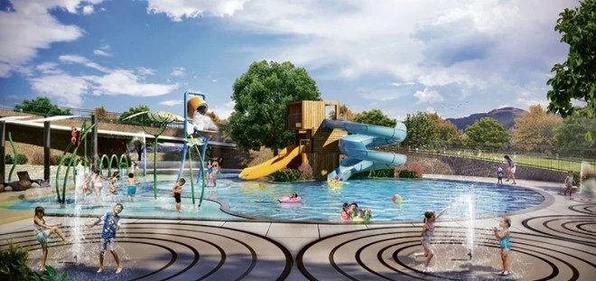 Artist's rendition of Alveira Country Club Splash Park