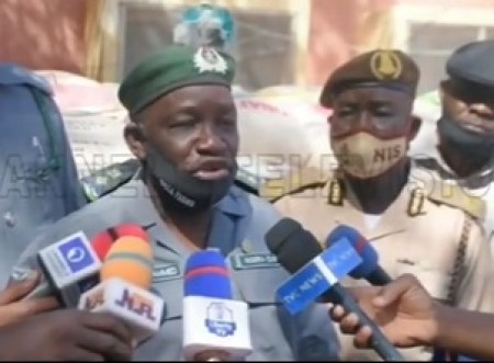 Customs Officer During A Press Statement