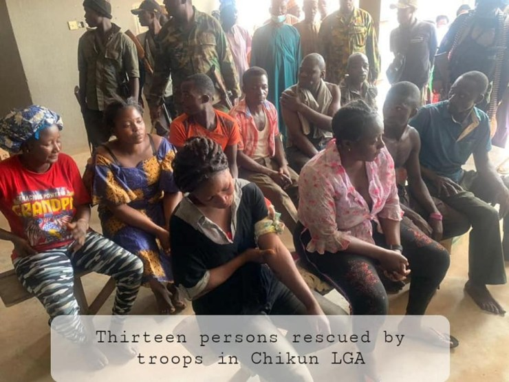 Troops rescue 13 kidnapped persons from bandits after fierce gun duel in Kaduna