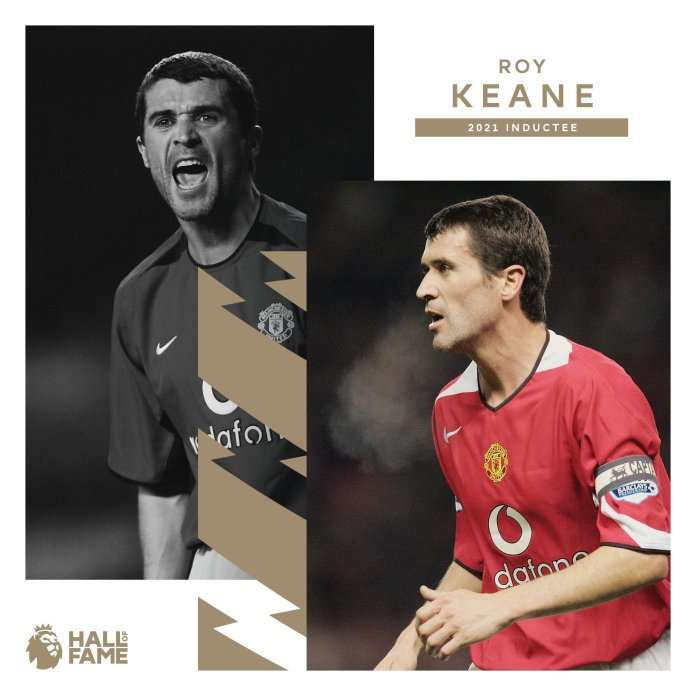 Premier league Hall Of Fame inductee Roy Keane