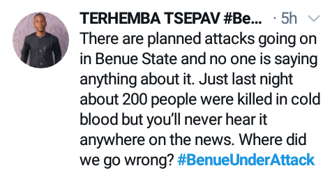 #BenueUnderAttack: Outrage as suspected Fulani herdsmen slaughter 36 persons including students in Benue community