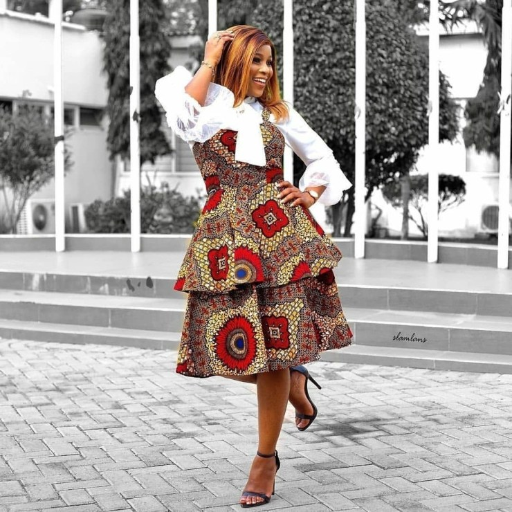 Formal Ankara Style With Layered Frock