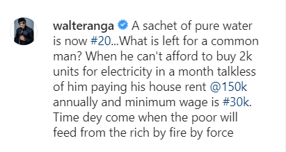 """""""Pure Water Is Now N20? What Is Left For The Common Man?"""", Walter Anga Laments"""