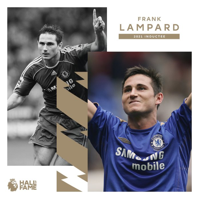 Premier league Hall Of Fame inductee Frank Lampard