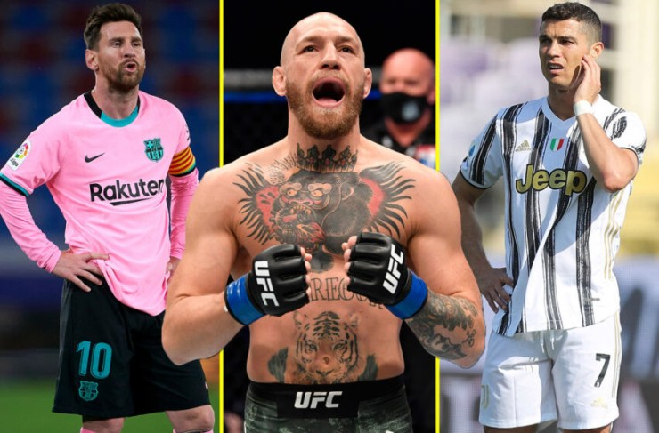 UFC star, Conor McGregor beats Lionel Messi and Cristiano Ronaldo to be named world