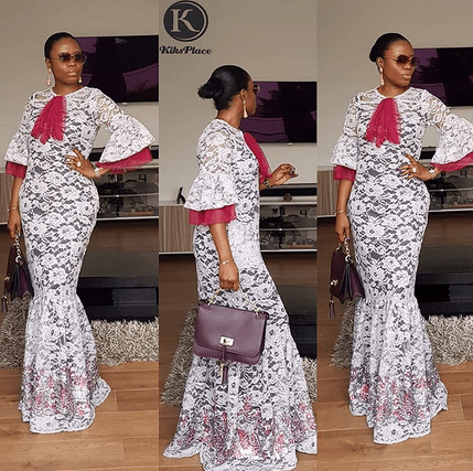 net lace gown styles for ladies