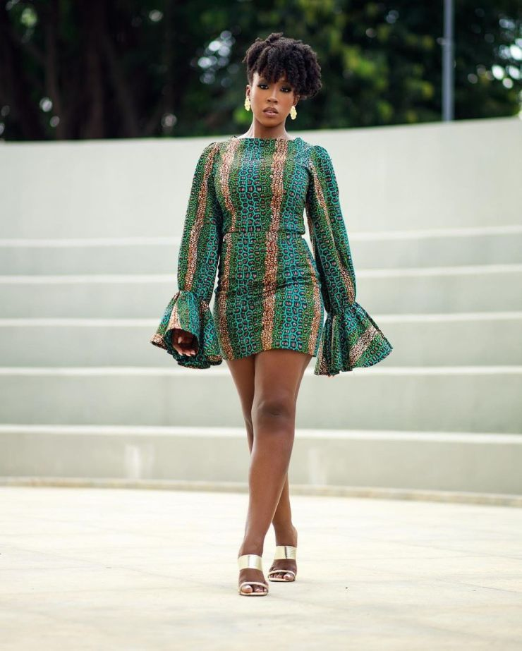 Beverly Naya- Can't Go Wrong In This Casual Ankara Style