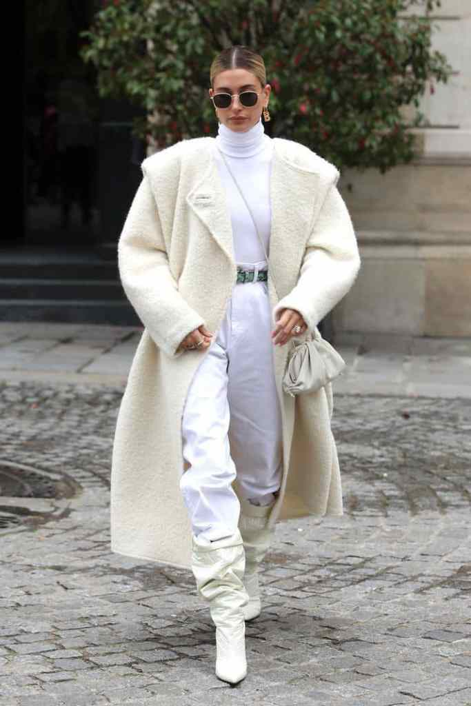 lady wearing white outfit with turtleneck