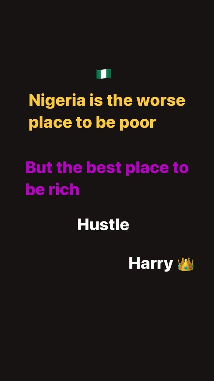 Nigeria Is The Worst Place To Be Poor But The Best To Be Rich - Harrysong