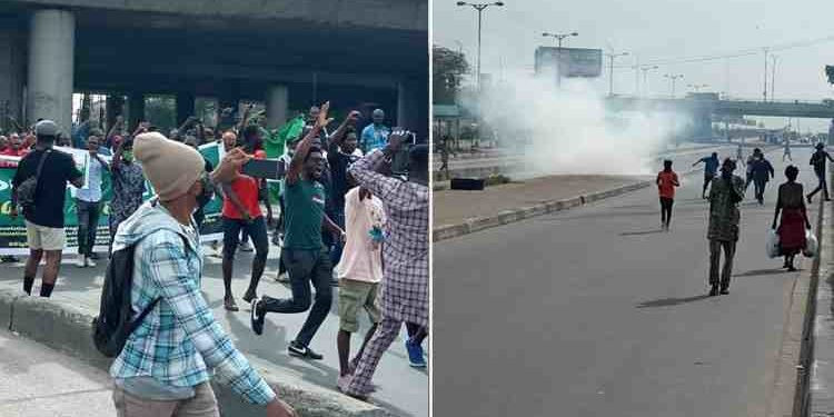 Police allegedly fire teargas at June 12 protesters in Lagos