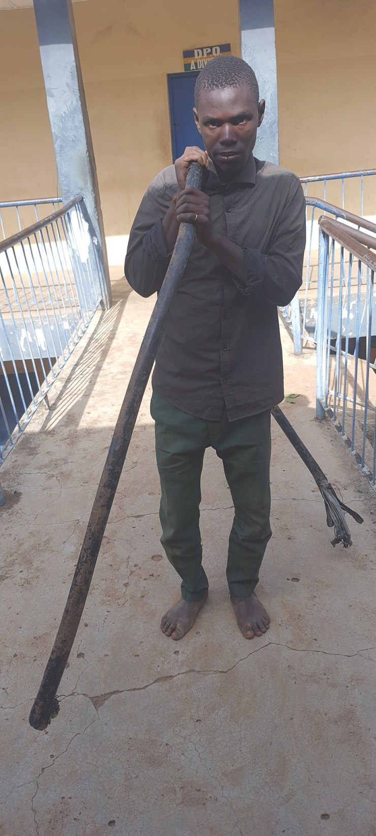 Update: Slain Jos stadium manager, Sasman Shaldas, announced the arrest of a suspected cable vandal two days before his murder