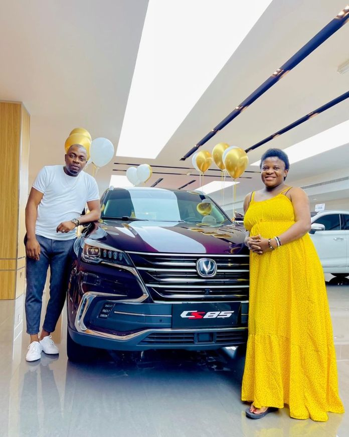 Angela Nwosu's Husband Gifts Her SUV As Push Gift Days After Welcoming Daughter