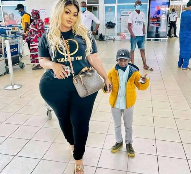 Popular Ivorian socialite Eudoxie Yao and Guinean musician Grand P end their relationship after Grand P allegedly cheated