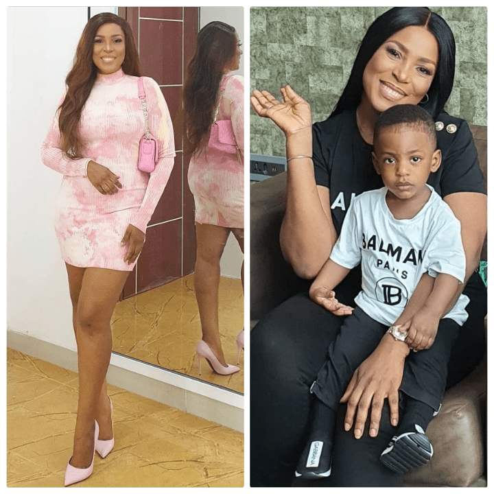 Linda Ikeji removes son's father surname from his IG; changes it to Ikeji