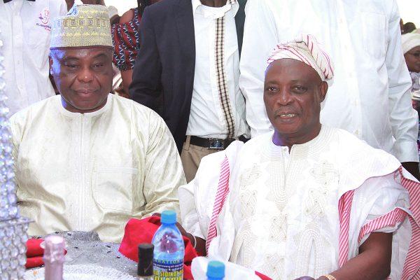 Chairman, DAAR Communication Plc, Chief Raymond Dokpesi (left) and Former Governor of Oyo State, Sen. Rasheed Ladoja.