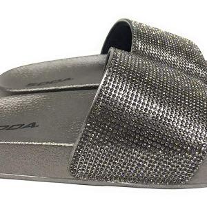 414716d36 Soda Shoes Women Flip Flops Sandals Bling Rhinestone Crystal Slides Footbed  Sylvia