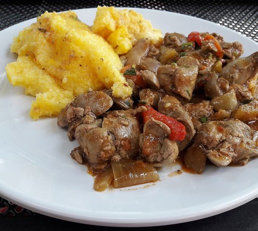 Chicken liver stew