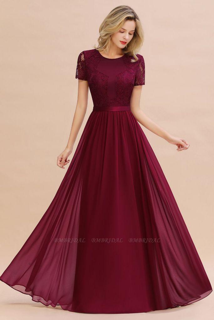rochie burgundy BmBridal