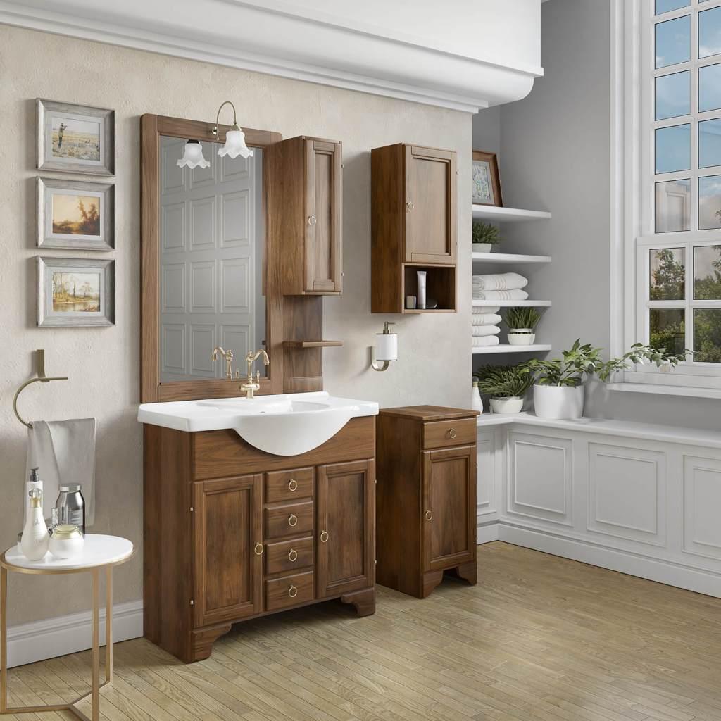 mobilier de baie din lemn masiv