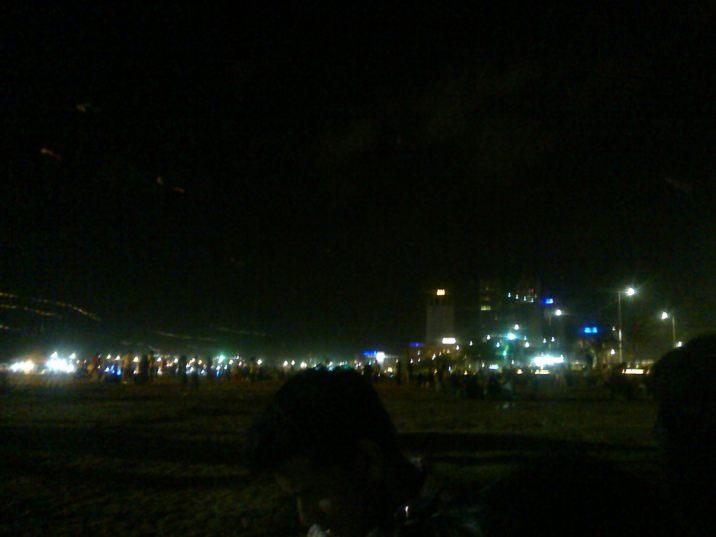 Night sky. This city never sleeps.