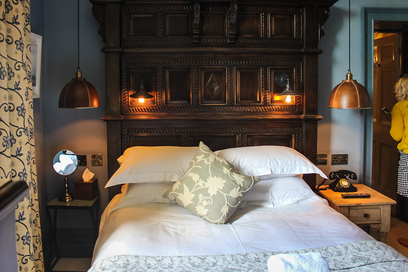 Wooden frame bed at Backwell House