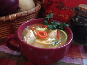 Spicy Mexican Chicken Zoodle Soup