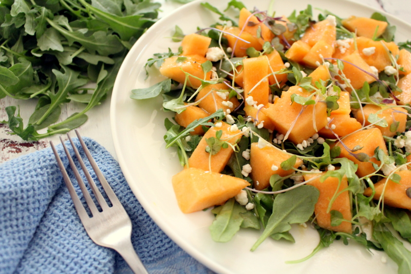 Arugula Cantaloupe Salad
